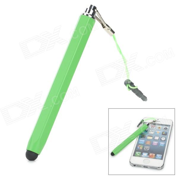 Universal Capacitive Screen Stylus w/ 3.5mm Anti-Dust Plug - Green