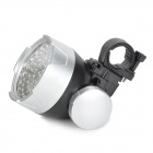 UltraFire MY-33 3W 53-LED 30lm 4-Mode White Bicycle Light - Black + Silver (3 x AA)