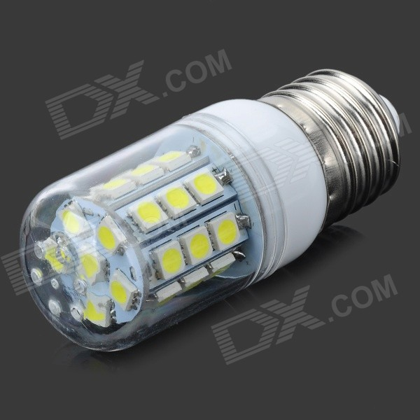 Buy JRLED E27 3W 230lm 27-SMD 5050 LED Cold White Light Bulb (220~240V) with Litecoins with Free Shipping on Gipsybee.com