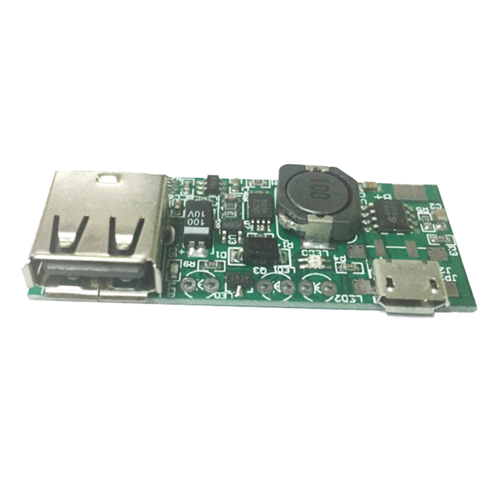 Produino 5V Voltage Boost Mobile Power Module - Green (1A)DIY Parts &amp; Components<br>BrandProduinoQuantity1 DX.PCM.Model.AttributeModel.UnitForm  ColorGreenMaterialPCBEnglish Manual / SpecYesOther FeaturesInput voltage: 5V, 1A Micro USB; Output voltage: 5V 1A USB; Size: 50 x 20 x 10 (mm); Adapt Battery: polymer lithium battery, 18650 lithium batteries, cell phones, etc. (working voltage 3~4.2V) standard lithium battery.<br>LED status indication:<br>Red: Charging;<br>Green: full;<br>Blue: Load;<br>Battery Connection:<br>B+ must be anode; B- must be cathode;<br>Please check and verify a good connection is correct before applying power to avoid burning plateCertificationN/APacking List1 x Module<br>