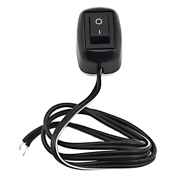 Jtron Automotive Simple Switch w/ Double-sided Adhesive / Thick Lines - BlackCar Switches<br>Form  ColorBlackBrandJtronModelN/AQuantity1 DX.PCM.Model.AttributeModel.UnitMaterialplasticIndicator LightNoRate Voltage12VRated Current10 DX.PCM.Model.AttributeModel.UnitPacking List1 x Switch<br>