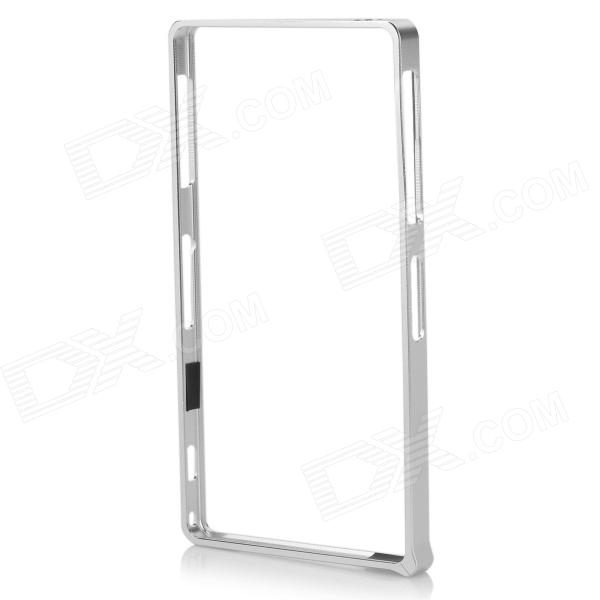 S-What Aluminum Alloy Bumper Frame Case for Sony L39h / Xperia Z1 - SilverMetal Cases<br>Form  ColorSilverBrandS-WhatModelN/AMaterialAluminum alloyQuantity1 DX.PCM.Model.AttributeModel.UnitCompatible ModelsSony L39h / Xperia Z1Other FeaturesProtects the cell phone from shock and scratches.Packing List1 x Frame case 1 x Screwdriver 4 x Screws<br>