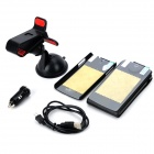 6-in-1 Car Suction Cup Holder w/ Car Charger + Case + Data Cable + Screen Film Set for LG Nexus 5