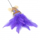 Flying Ratateenies Style Canvas Cotton Fiber Toy Stick for Pet Cat - Purple