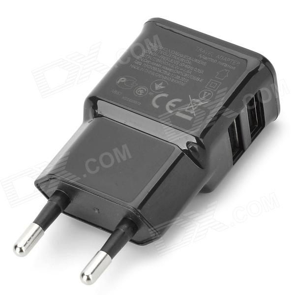 Universal Compact Dual USB Output EU Plug Power Adapter - BlackAC Chargers<br>Form  ColorBlackBrandN/AModelN/AMaterialPlasticQuantity1 DX.PCM.Model.AttributeModel.UnitInput Voltage100~240 DX.PCM.Model.AttributeModel.UnitOutput Current2000 DX.PCM.Model.AttributeModel.UnitOutput Voltage5 DX.PCM.Model.AttributeModel.UnitPower AdapterEU PlugPacking List1 x Wall charger<br>