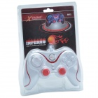 Xtreme 881S USB 2.0 Wired PC Game Handle Controller - White + Red (145cm-Cable)