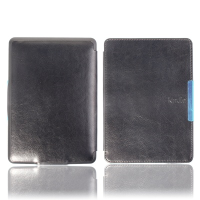 Protective PU Leather Case Cover for Amazon Kindle Paperwhite - Black
