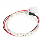 Water Resistant 18-LED Decorative Light Strip for Computer Case / Box - Red (30cm)