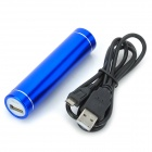 PC-B Universal Compact 2600mAh Rechargeable Power Bank Tube - Blue