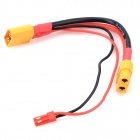 XT60 JST Connector Plug Adapter Cable for DJI Phantom Quadcopter Aerial Gimbal - Red + Dark Yellow
