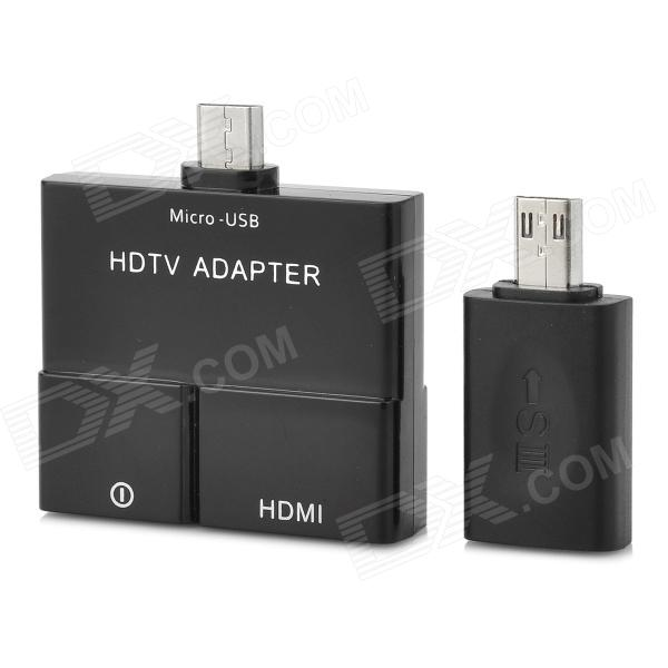 OT-3233 MHL to HDMI TV Adapter for Samsung S3 / S4 / Note 2 / Note 3 / Mi 2S / HTC / MX2 - Black