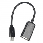 Micro USB Male to USB Female Adapter Cable - Black
