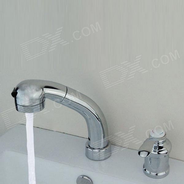 YDL-F-0533-High-Quality-Separated-Type-Chrome-Finished-Contemporary-Pull-out-Kitchen-Faucet-Silver
