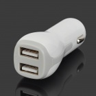 BC065 Universal Convenient Dual USB Output Car Charger - White (12~24V)