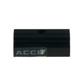 ACCU 20mm Aluminum Alloy Bipod Clip Adapter for Airsoft - Black