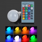 Mini E27 3W 90lm RGB LED Dimmable Bulb w/ Remote Controller (AC 85~265V)