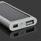 S-What Solar Powered 1200mAh External Battery Charger Power Bank for Iphone / Ipod - Silver