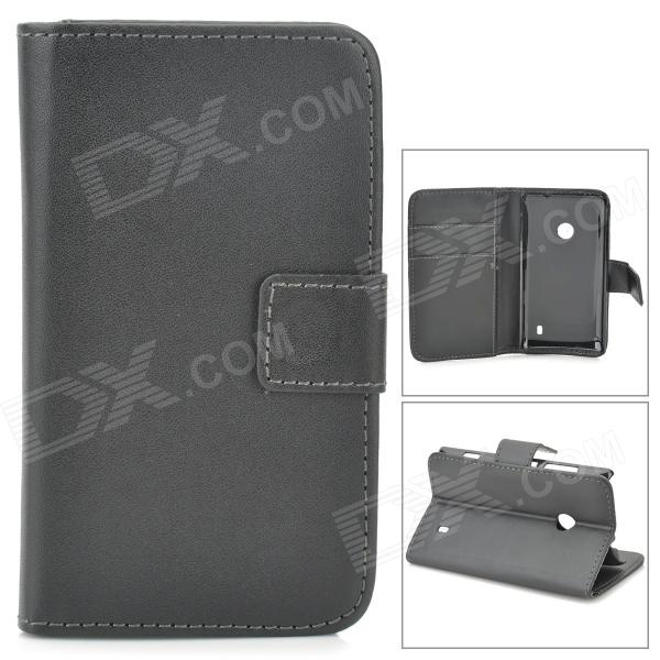 new product 4171d 49737 A-66 Protective PU Leather Case for Nokia Lumia 520 - Black