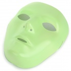 PVC Glow-in-the-Dark Face Mask pro ženy - Fluorecent Green