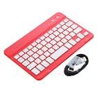 Mini Bluetooth V2.0 59-key Keyboard for Android - Red + White