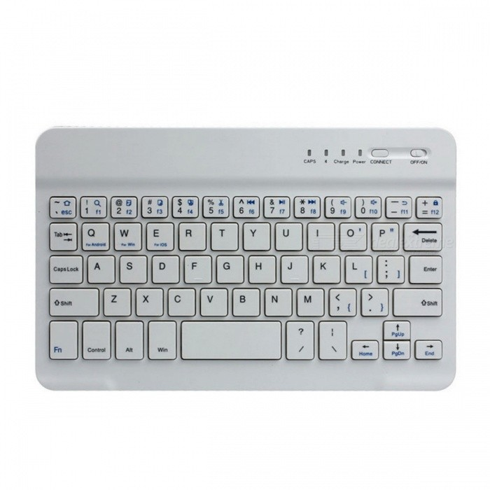 Mini Bluetooth V2.0 59-Key Keyboard w/ Micro USB Cable - WhiteTablet Keyboards<br>Form  ColorWhiteBrandN/AQuantity1 DX.PCM.Model.AttributeModel.UnitMaterialABSPowered ByBuilt-in Battery,Others,Micro USB 2.0Compatible BrandOthers,Android / Bluetooth systemWireless or WiredBluetoothBluetooth VersionBluetooth V2.0InterfaceOthers,Micro USB 2.0Keys59Operating Range10 DX.PCM.Model.AttributeModel.UnitCharging Time2~3 DX.PCM.Model.AttributeModel.UnitBattery Capacity860 DX.PCM.Model.AttributeModel.UnitBattery NumberN/ABattery included or notNoSupports SystemAndroid 4.xPacking List1 x Keyboard1 x Micro USB cable (70cm)<br>