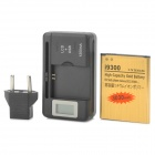 ''3030mAh'' Battery + 0.8'' LCD USB Battery Charger + EU Plug Adapter for Samsung Galaxy S3 i9300