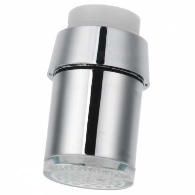 Thchi 3-Color LED Temperature Controlled Faucet Water Tap - Silver