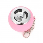 ML-89 Mini Rechargeable Music Speaker w/ Colorful Flashing Light for Cell Phone / MP3 / MP4 - Pink