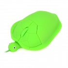 VMM-59 Cartoon Turtle Style USB Wired 800 / 1200 / 1600 / 2400dpi Optical Mouse - Green