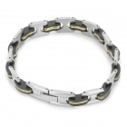 SHIYING SLX000074 316L Stainless Steel Bracelet for Men - Black + Silver + Multicolored