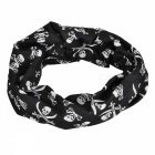 LL-1215 Multifunction Outdoor Sports Seamless Head Scarf - Black+Grey