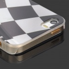 Graphic Zipper Pattern Protective PC Back Case for Iphone 5 / 5s - Transparent + White