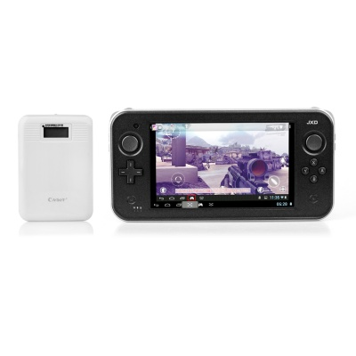 "JXD S7300 7"" Dual-core Android 4.1 Smart Game Console + Smart Mobile Power Set - Black + White"