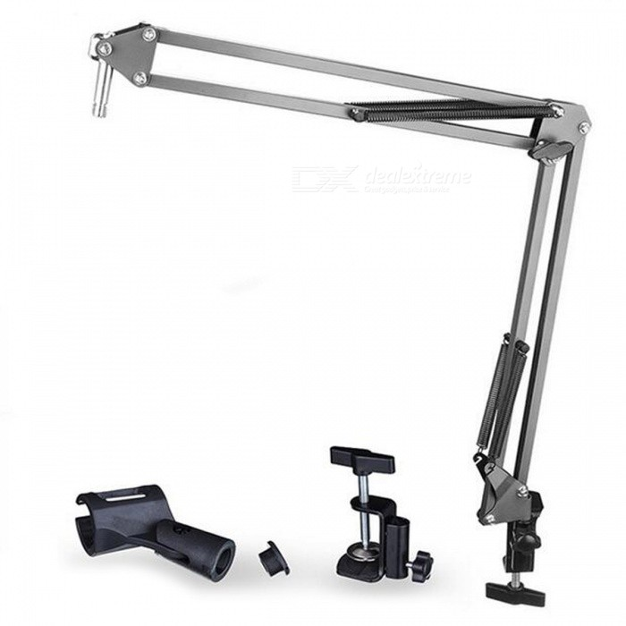 Buy Professional 360 Degree Hanging Arm Desktop Holder for Microphone - Black with Litecoins with Free Shipping on Gipsybee.com