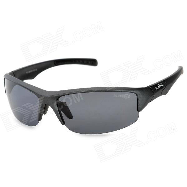KALLO-99151-Outdoor-Sports-Grey-Lens-UV400-Polarized-Sunglasses-Black