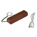BOCHANG AKMB008 2600mAh Chocolate Style Power Source Bank Charger for Valentine's Day - Coffee