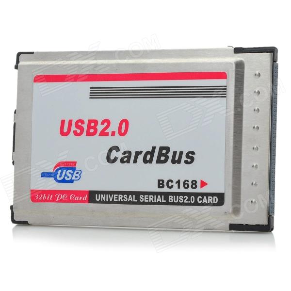 Buy 2-Port USB 2.0 PCMCIA Cardbus Port Expansion Card for Laptops with Litecoins with Free Shipping on Gipsybee.com