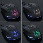 Genius USB 2.0 Wired 800 / 1600 / 2000dpi LED Optical Gaming Mouse - Black