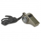 All Weather Safety Whistle - Army Green