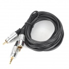 3.5mm Male to 2 x RCA Male Audio Cable for Speaker - Black + Silver (300cm)