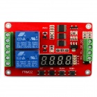 Jtron 2-Way Multifunction Relay Module / Time Relay - Red