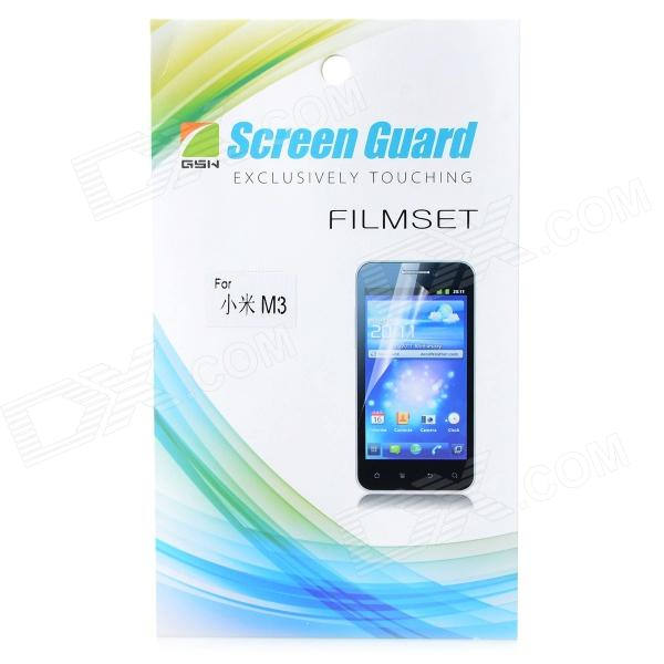 Clear Protective PET Screen Protector w/ Cleaning Cloth for Xiaomi M3 - Transparent