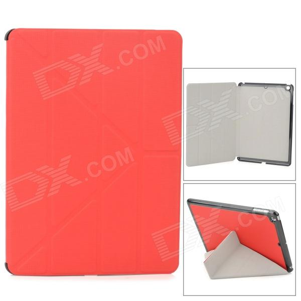 Protective PU + Plastic Case for Ipad AIR - Red