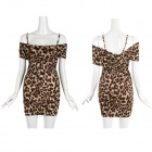 Mode pour Leopard Pattern robe femmes - Brown (taille libre)