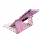 360 Degree Rotation Protective PU Leather Case Cover Stand for Samsung Galaxy Tab 3 10.1 P5200 -Pink