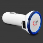 Car Cigarette Lighting Plug Power Charger w/ Dual USB - White (DC 12~24V)