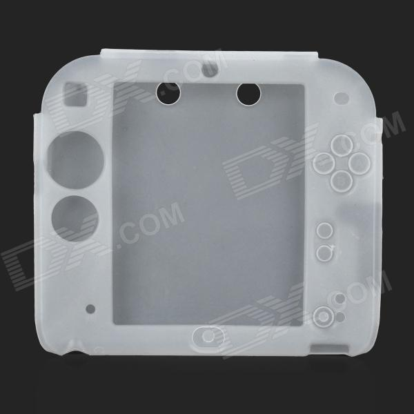 Buy Protective Soft Silicone Case for Nintendo 2DS - Translucent White with Litecoins with Free Shipping on Gipsybee.com