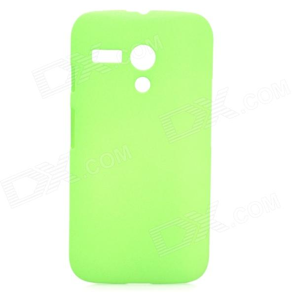 Quicksand Style Protective PC Back Case for MOTO G Phone - Green