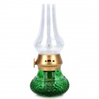 HAPTIME YGH515 Retro Classic 0.3W 18LM 2800K LED Lamp w/ Blow-Off Sensor - Green + Golden