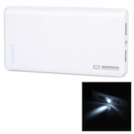 13200mAh-Double-USB-Powered-Emergency-External-Battery-Charger-w-LED-Light-White